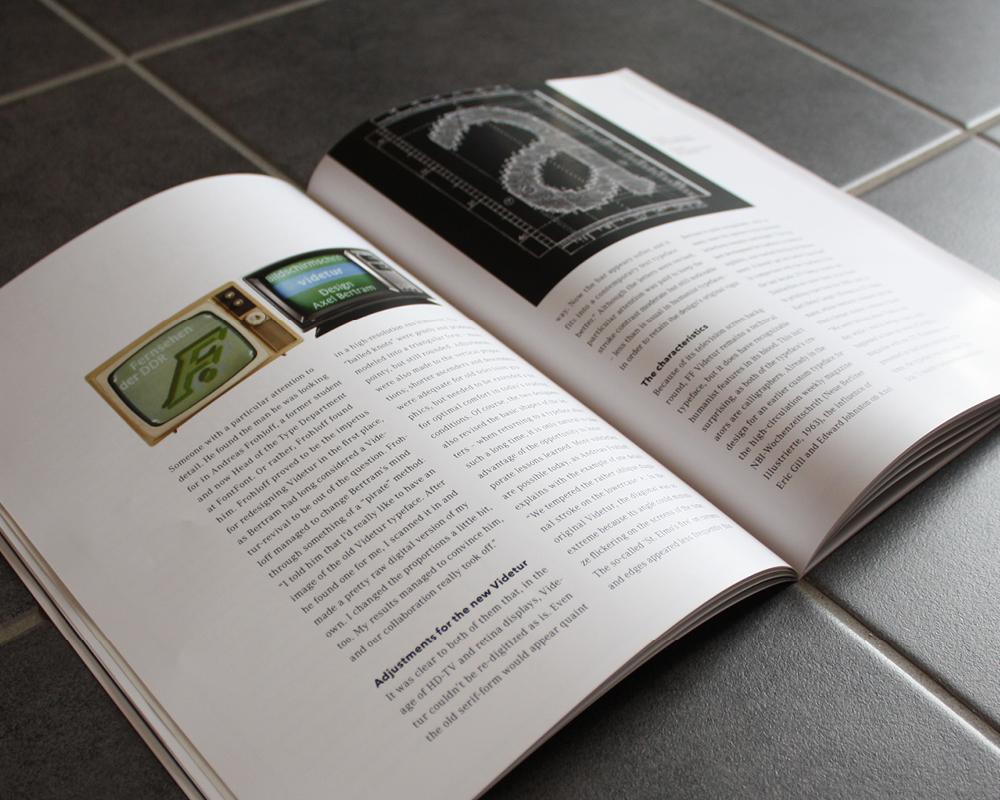 Corporate Design Portfolio - Schreiber Tobias - Schrift der 80er Jahre, Magazingestaltung Display Schriftarten, Pixel-Fonts