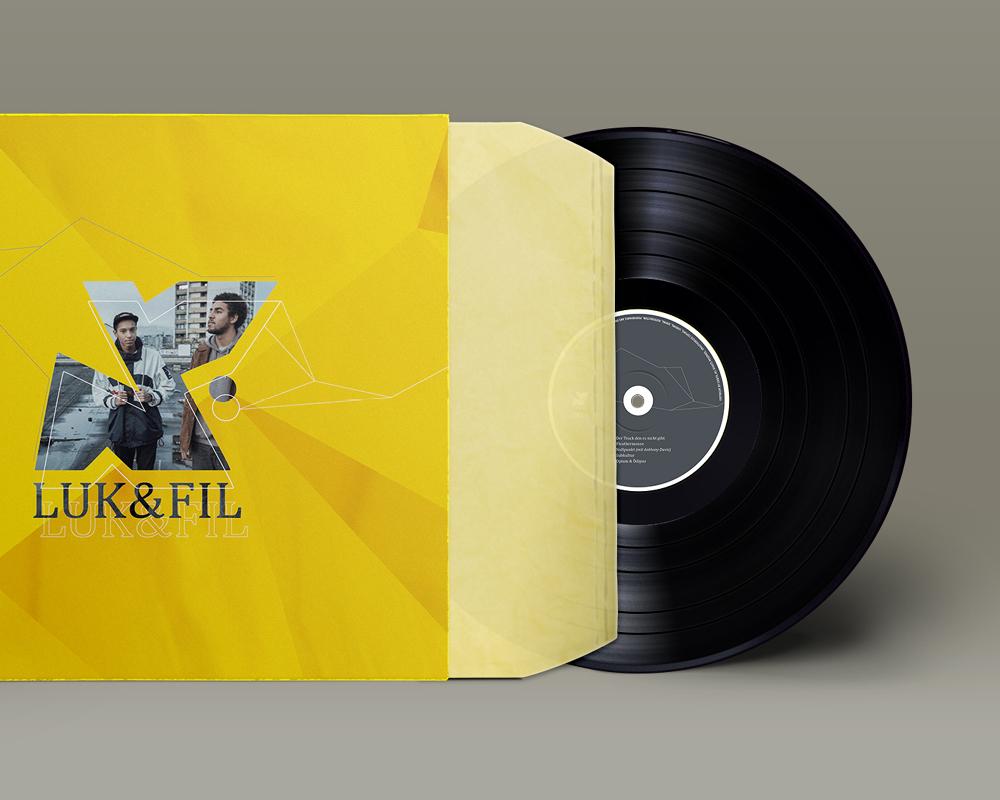 Corporate Design Portfolio - Schreiber Tobias - Luk & Fil Vinylplatte Cover, Umschlag Vinyl, Produktdesign