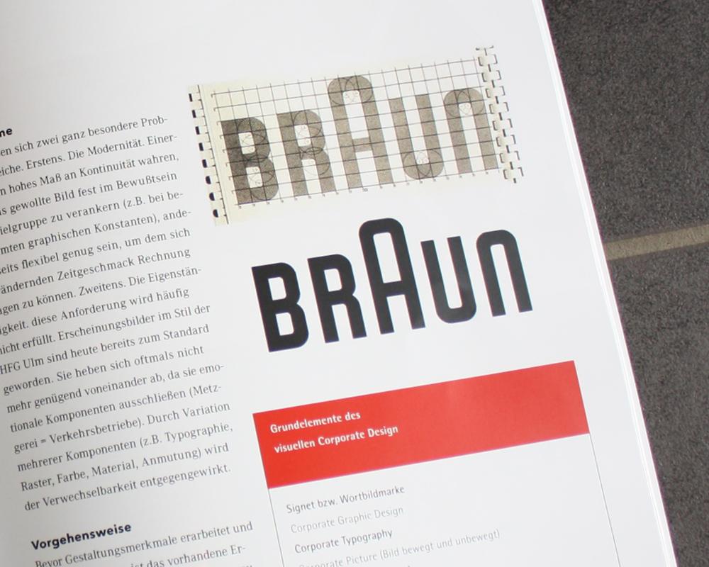 Corporate Design Portfolio - Schreiber Tobias - Schrift der 80er Jahre, Magazingestaltung Braun Logodesign
