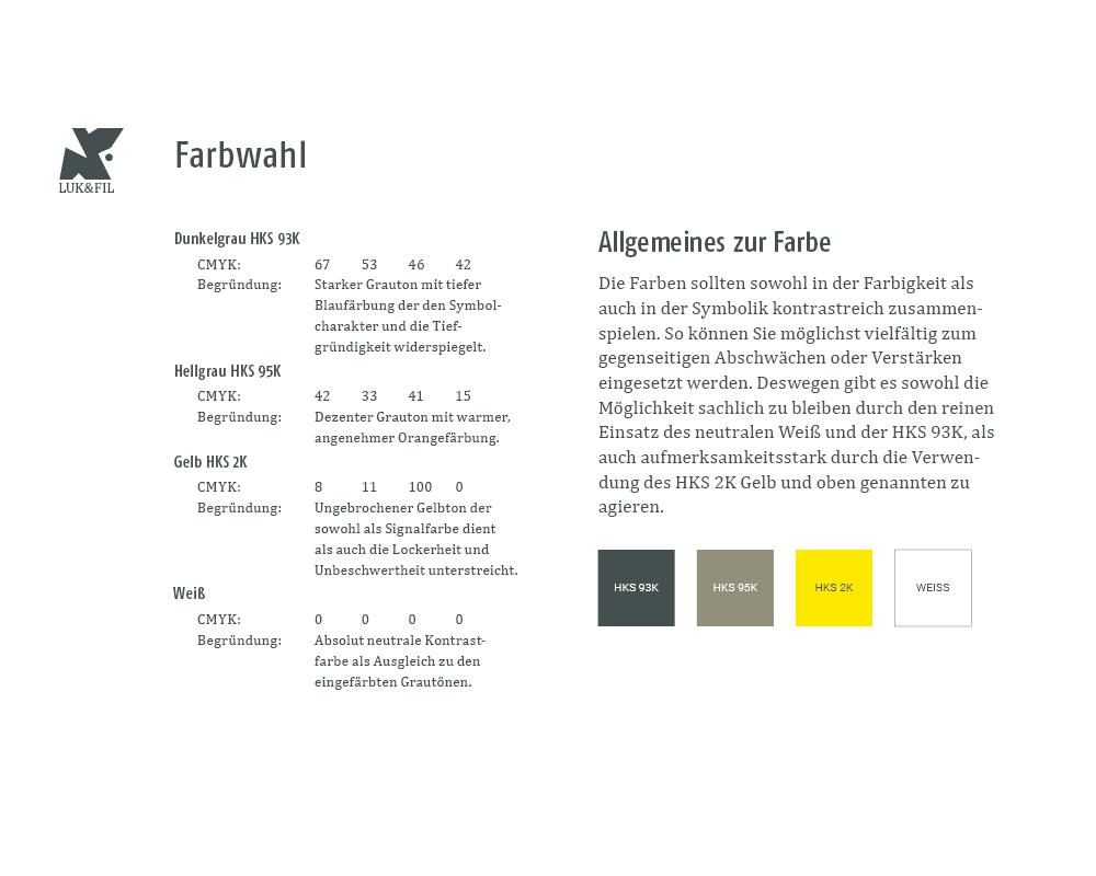 Corporate Design Portfolio - Schreiber Tobias - Luk & Fil Corporate Design Styleguide, Auszug Schriftauswahl