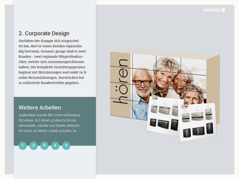 Corporate Design Portfolio - Schreiber Tobias - Interaktives e-Publishing, Auflistung der Referenzen