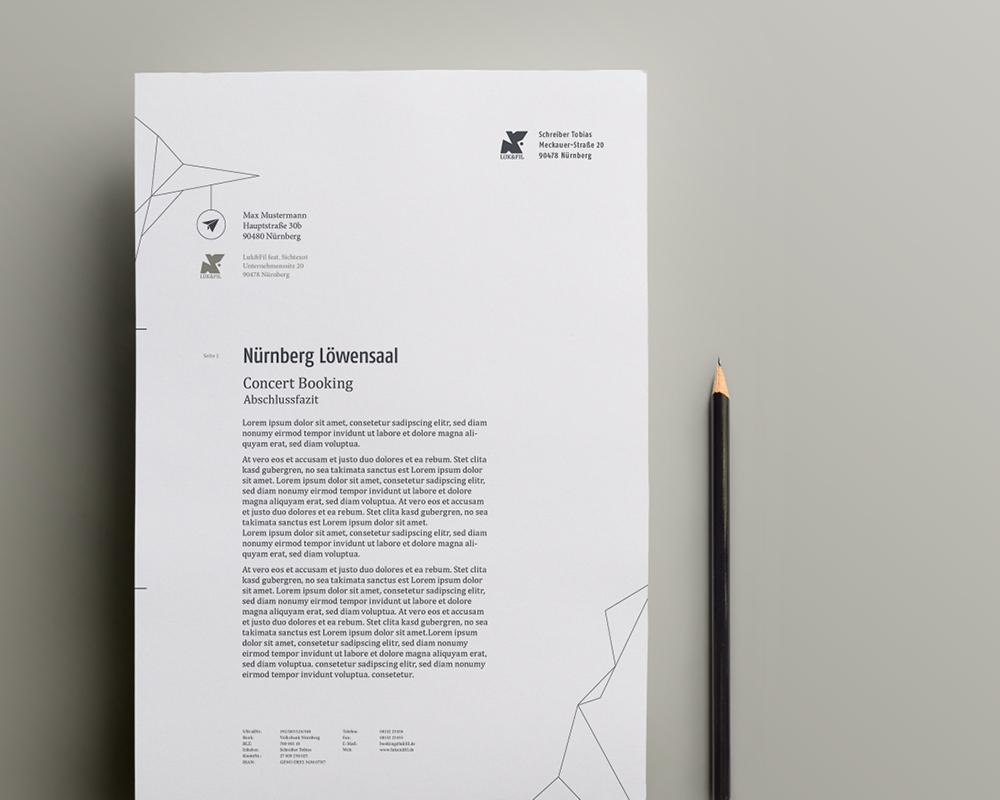 Corporate Design Portfolio - Schreiber Tobias - Luk & Fil Geschäftsausstattung Briefpapier Corporate Design