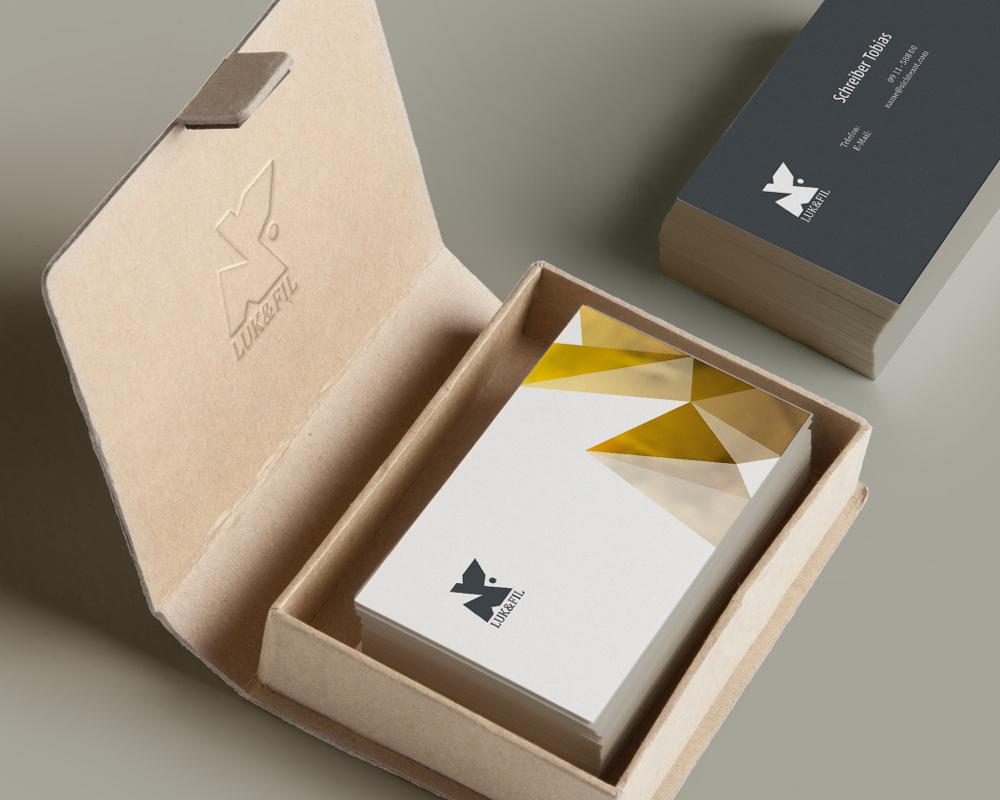 Corporate Design Portfolio - Schreiber Tobias - Luk & Fil Geschäftsausstattung Visitenkarten