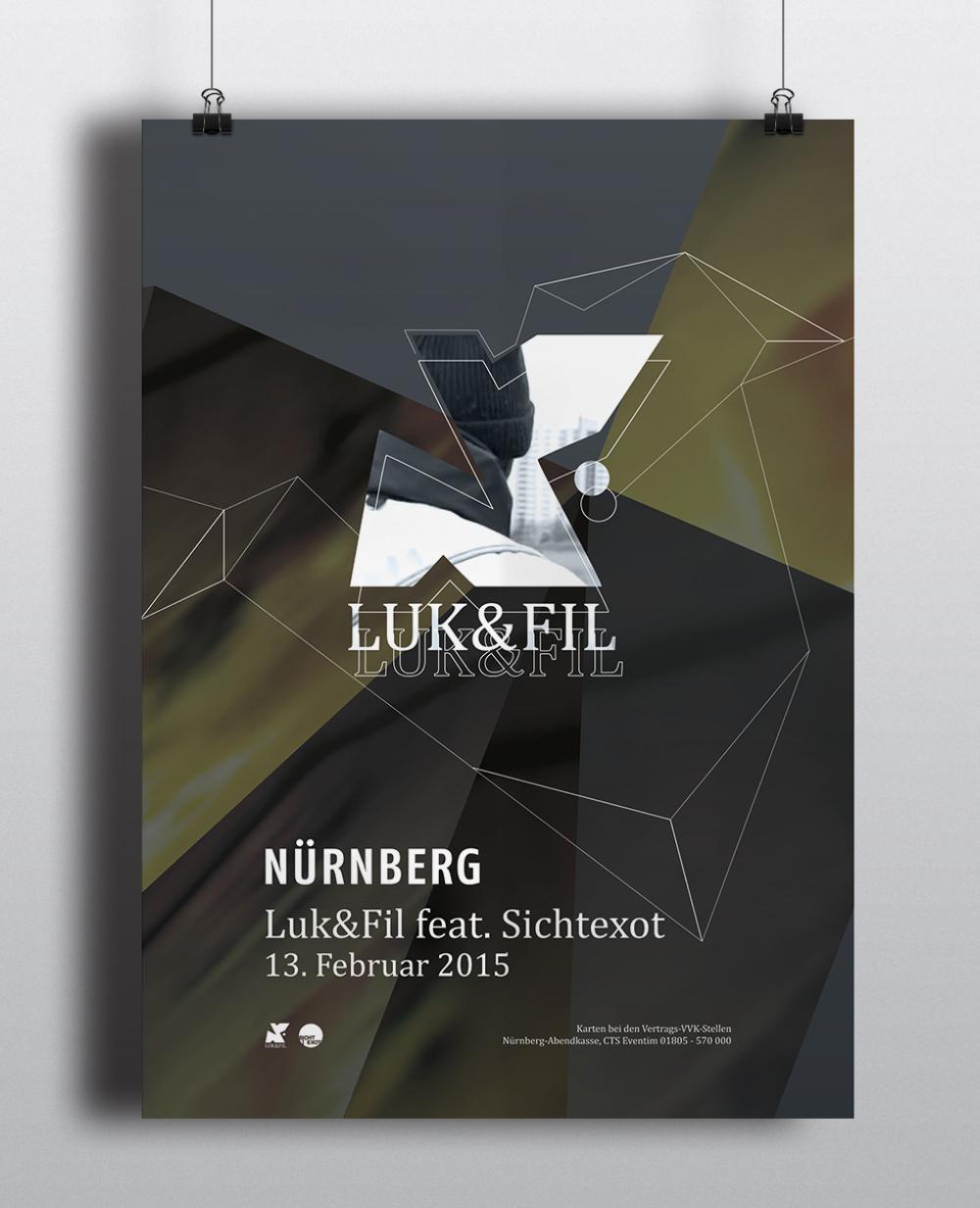 Corporate Design Portfolio - Schreiber Tobias - Luk & Fil Plakatgestaltung Key-Visual, Corporate Design