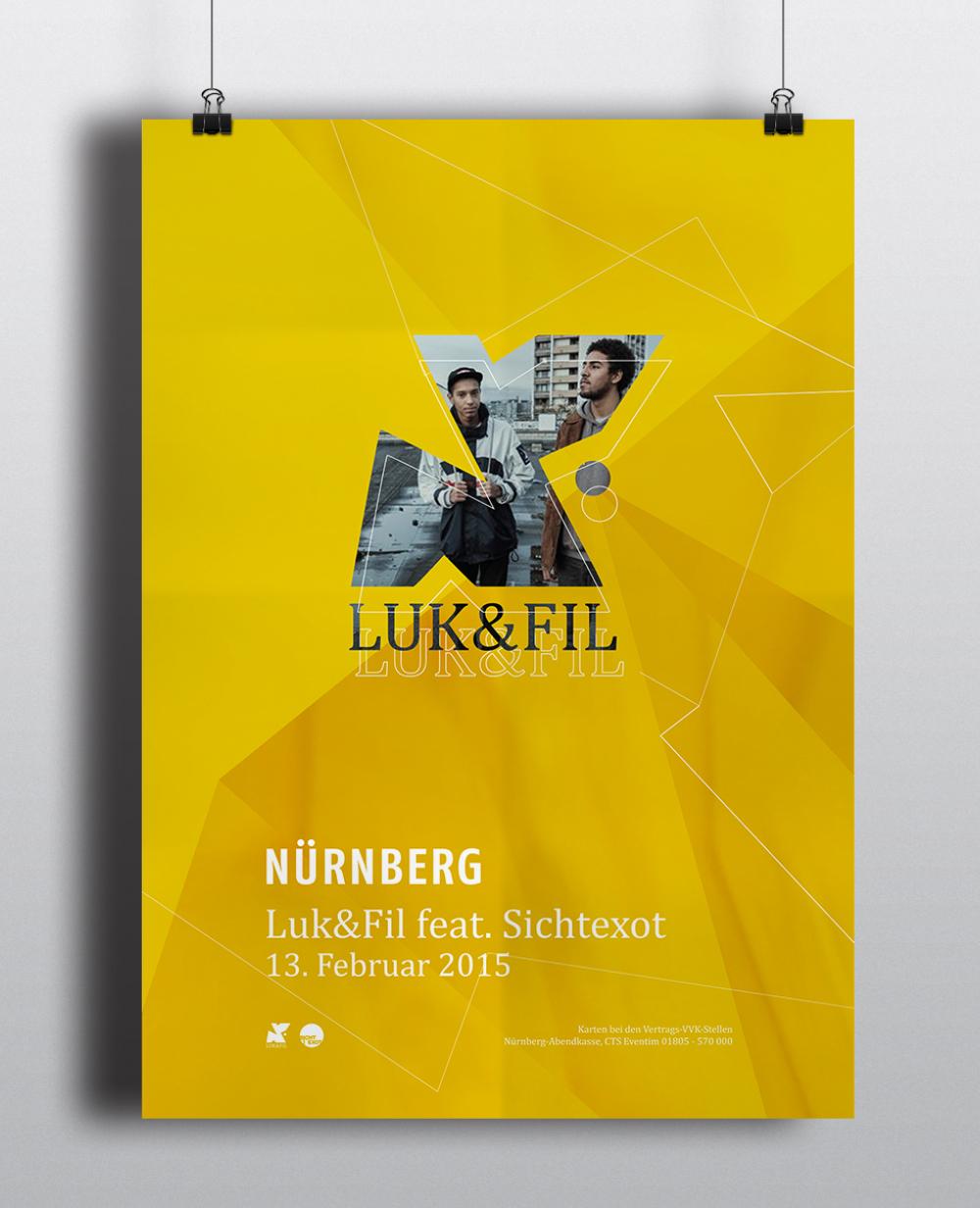 Corporate Design Portfolio - Schreiber Tobias - Luk & Fil Plakatgestaltung Key-Visual