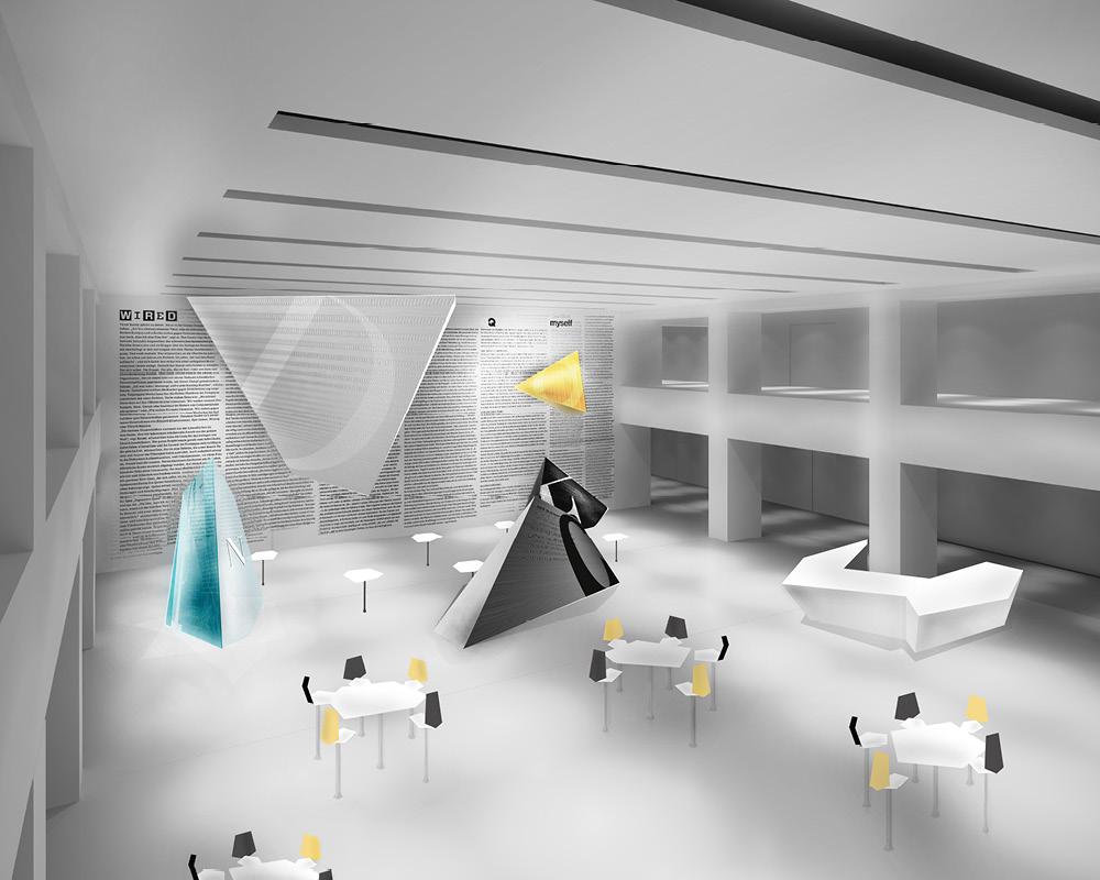 Corporate Design Portfolio - Schreiber Tobias - Eventgestaltung Condé Nast Verlag, Imagebild, Grobkonzept