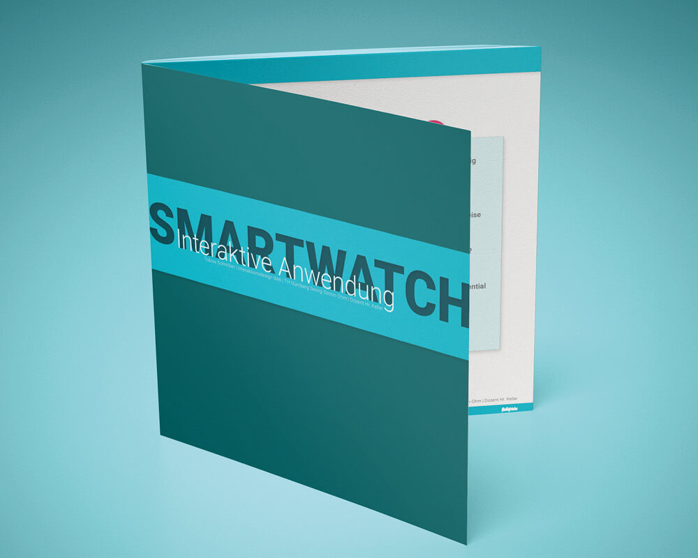 Corporate Design Portfolio - Schreiber Tobias - SmartIT, Smart-Home User Interface User Experience UI/UX Konzept, Booklet Cover