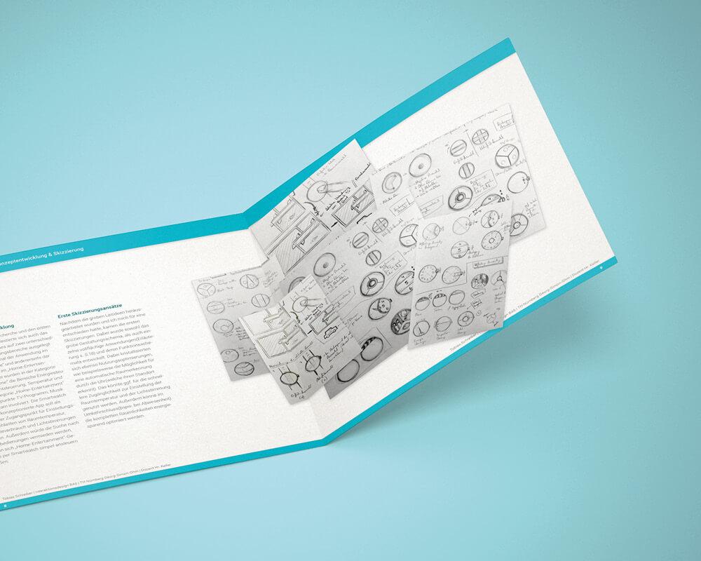 Corporate Design Portfolio - Schreiber Tobias - SmartIT, Smart-Home User Interface User Experience UI/UX Konzept, Booklet 2