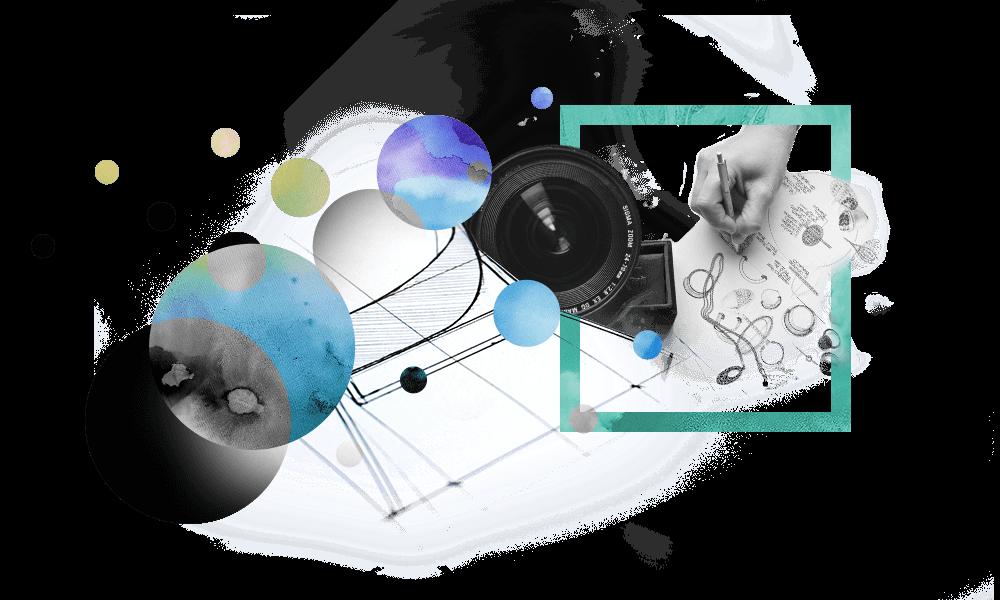 Illustrative Bildmontage / Compositing für den Leistungspunkt Content Creation