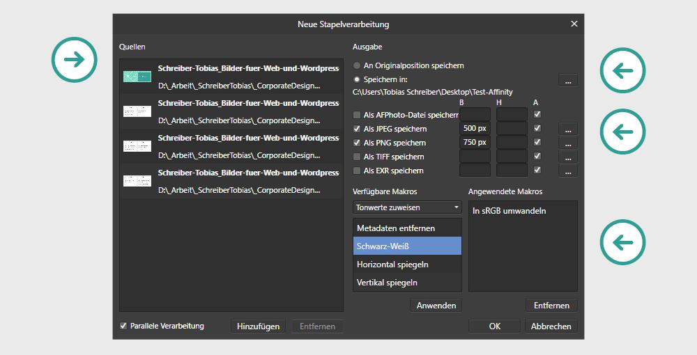 Contenbild - Bilder für Web & Wordpress optimieren - Stapelverarbeitung mit vordefinierten Einstellungen exportieren